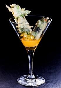 Coctel de erizo en tempura
