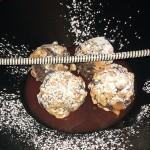 Albóndigas de Chocolate y kikos con naranja sanguina, Los Galayos