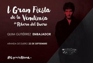 Quim Gutiérrez_Embajador 1º Fiesta Vendimia
