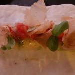 Canelón de aguacate con bonito marinado y pico de gallo