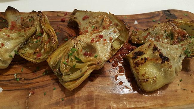 Alcachofas salteadas con chispas de jamón ibérico_More